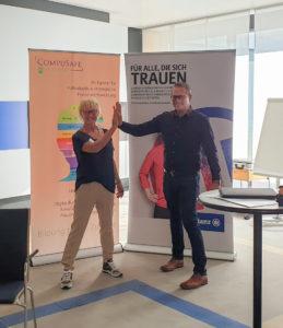 Anke Schnitzer und Andreas Lugauer beim Assessment